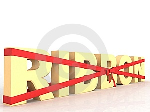 Three Dimensional Wrapped Ribbon Text Royalty Free Stock Images - Image: 6540889