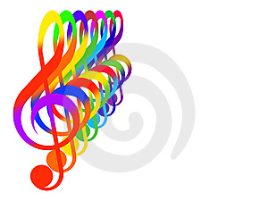 Treble Clefs Royalty Free Stock Image - Image: 6541696