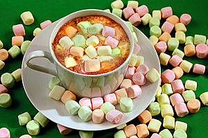 Hot Chocolate With Marshmallows Stock Photography - Image: 6544002