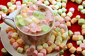 Hot Chocolate With Marshmallows Stock Image - Image: 6544021