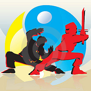Asian Fighters Royalty Free Stock Photography - Image: 6546267
