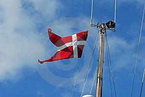 Danish Flag On Sailboat Mast Stock Photo - Image: 6546270