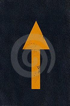 Yellow Marking On Black Asphalt Royalty Free Stock Photography - Image: 6546587