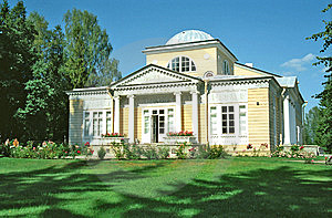 Wooden Building In Classical Style Stock Image - Image: 6548501