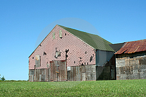 Old Barn With Grass And Blue Sky Royalty Free Stock Photo - Image: 6549875