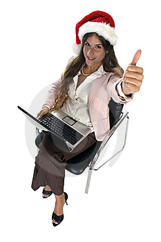 Businesswoman Wishing Good Luck Stock Images - Image: 6550374