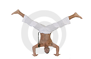 Young Caucasian Doing Cartwheel Stock Image - Image: 6550541