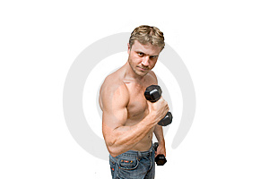 Man With Dumbbells Royalty Free Stock Photo - Image: 6552565