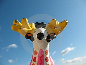 The Golden Antlers Stag. Dymka Royalty Free Stock Photo - Image: 6553365