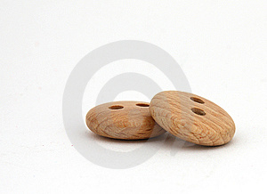 Two Wooden Buttons Stock Photography - Image: 6554172