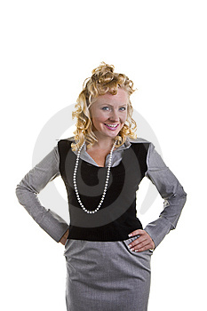 Curly Blonde Royalty Free Stock Photography - Image: 6554727