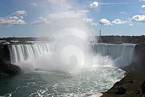 Großes Spash Niagara Falls Lizenzfreie Stockfotografie - Bild: 6556997