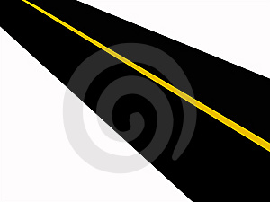 Road (Yellow Solid Line) Royalty Free Stock Images - Image: 6557019