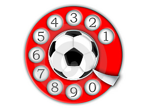 Football And Dial Stock Photography - Image: 6560692