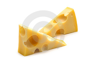 Two cheese Stock Photos