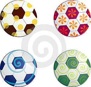 Design Football Balls Symbols Royalty Free Stock Photo - Image: 6561175