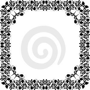 Floral Design Frame Royalty Free Stock Image - Image: 6561666