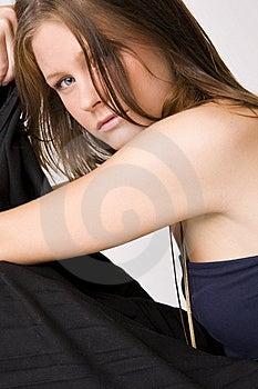 Young Beautiful Sad Woman Stock Photo - Image: 6562940