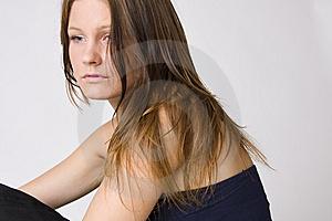 Young Beautiful Sad Woman Stock Photo - Image: 6563000