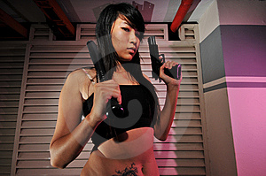 Gangster Girl - 7 Royalty Free Stock Photography - Image: 6563667