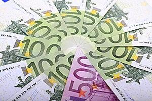 Close Up Of Many European Hundred Euros. Royalty Free Stock Image - Image: 6566716