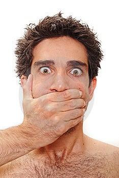 Surprised man Free Stock Image