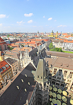 The Aerial View Of Munich City Center Stock Photos - Image: 6569903