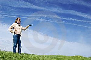 Girl In The Field Stock Image - Image: 6570391
