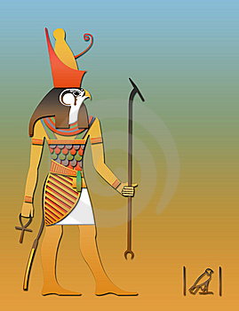 Horos The Egyptian God Of Sky Stock Photos - Image: 6571873