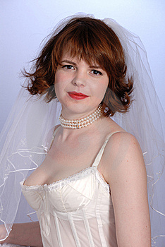 Cute Retro Fifties Bride In Lingerie Royalty Free Stock Photo - Image: 6571875