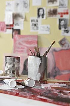 Paint Pallet Stock Photos - Image: 6574913