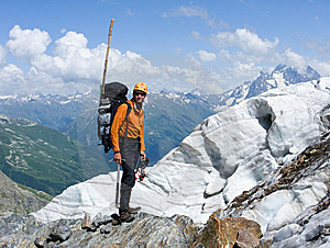 Mountain-climber In High Caucasus Mountains Stock Photography - Image: 6575872