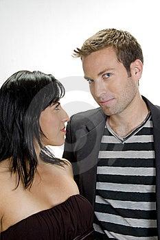 Pares Atrativos Que Estão Junto Foto de Stock - Imagem: 6579100