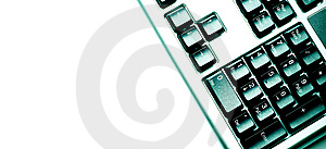 Fragment Of Keyboard Green Royalty Free Stock Photo - Image: 6581195