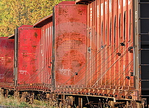 Railroad Car Graffiti Royalty Free Stock Image - Image: 6582296
