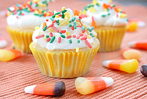Fall Cupcakes Royalty Free Stock Image