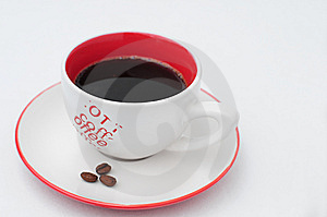 Coffee Cup With Clipping Path Stock Images - Image: 6584644