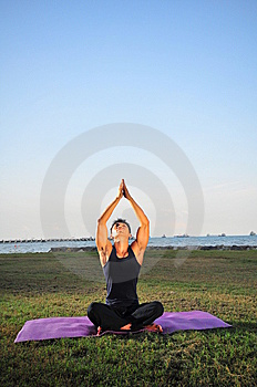 Man Performing Yoga 2 Royalty Free Stock Images - Image: 6585819