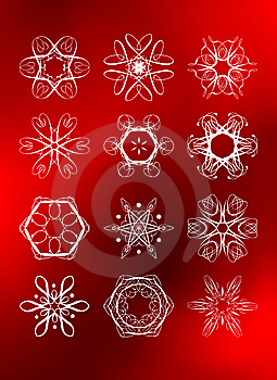 Set Of Legant Rich Snowflakes Royalty Free Stock Images - Image: 6591389