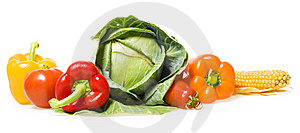 Fresh Vegetables On White Stock Photography - Image: 6591942
