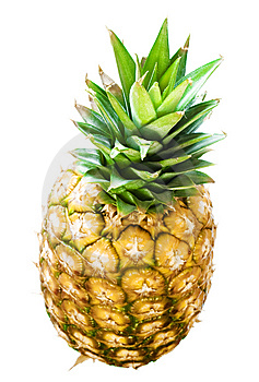 Pineapple On White Royalty Free Stock Photo - Image: 6593555