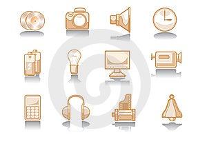 Electronics Icon Stock Image - Image: 6594911