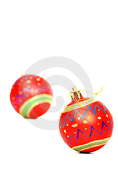 Vibrant Red Christmas Decorations Royalty Free Stock Photo - Image: 6597795