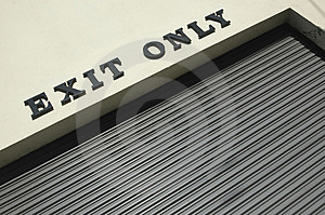 Exit Only Stock Images - Image: 661294