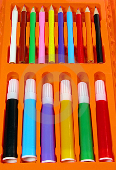 Colors Pencil-box Stock Images - Image: 662824