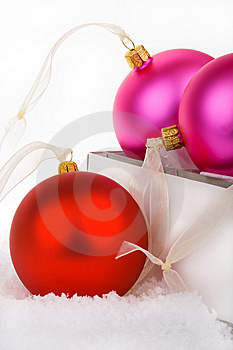 Christmas Baubles Boxed And Unboxed Royalty Free Stock Image - Image: 6600326