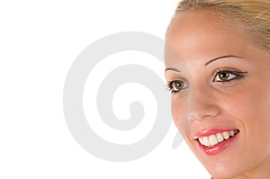 Beautiful Smiling Woman Stock Image - Image: 6600421