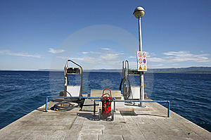 Petrol Fuelling Station On Seaside Royalty Free Stock Photo - Image: 6601295