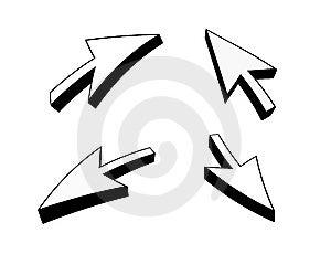 3D Arrows Cursor Royalty Free Stock Photography - Image: 6602887