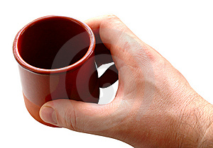 Pottery Cup In Man's Hand. Royalty Free Stock Photo - Image: 6604515